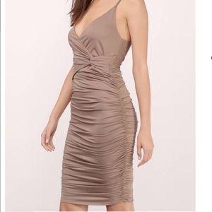 Taupe Midi Dress